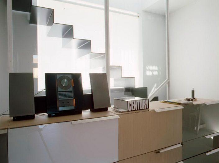 Appartamento milano centro officine donini - Parete divisoria in vetro ...